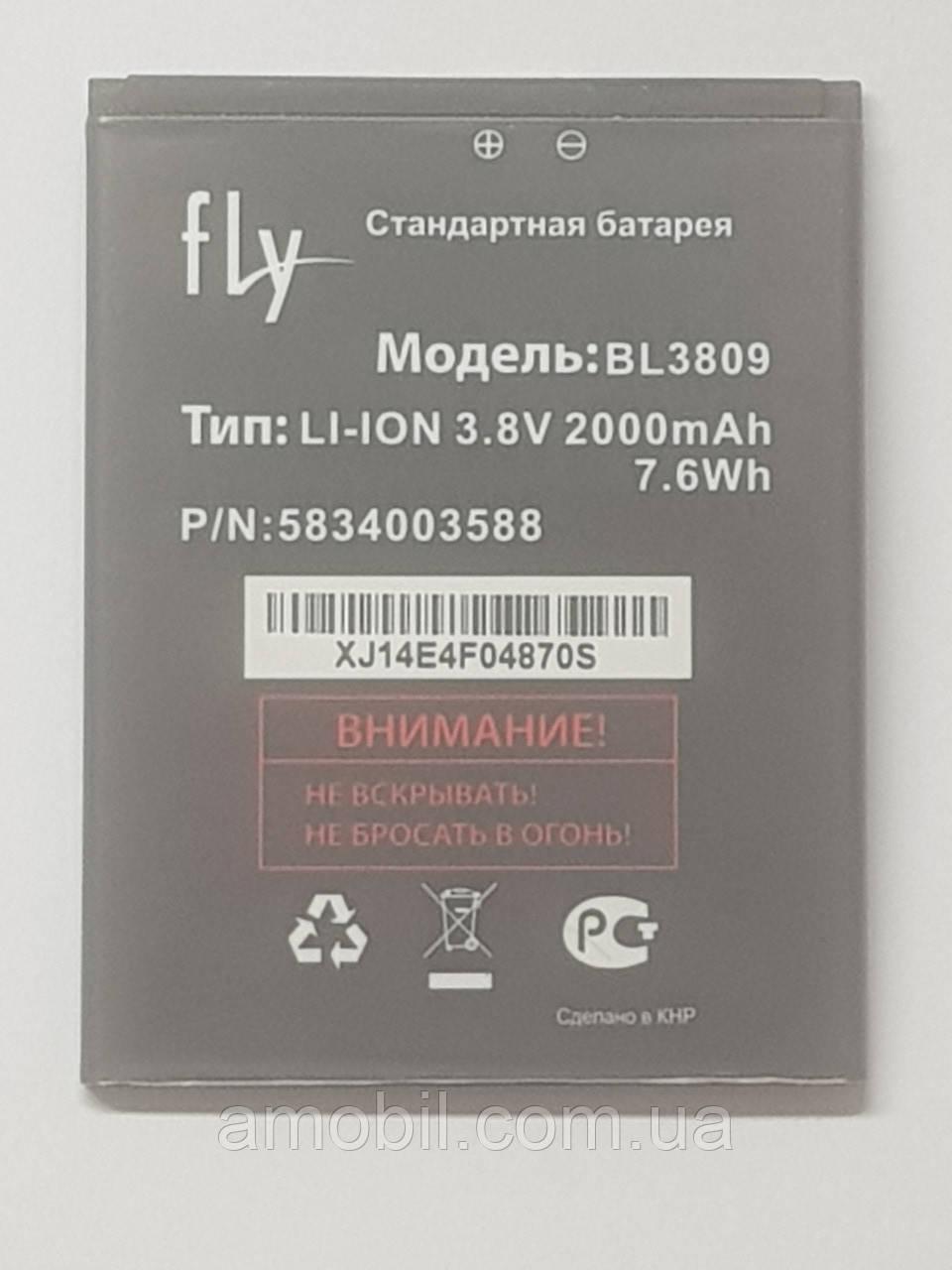 Аккумулятор FLY BL3809 iQ458 Quad EVO Tech 2, iQ459 Quad EVO Chic 2 orig б.у
