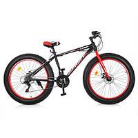 Велосипед Фэтбайк «Profi» EB26POWER 1.0 S26.1 Красный (колеса 26 дюймов)