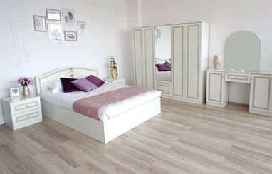 """Кровать""""Стелла"""" белая (160*200)  TM Embawood"""