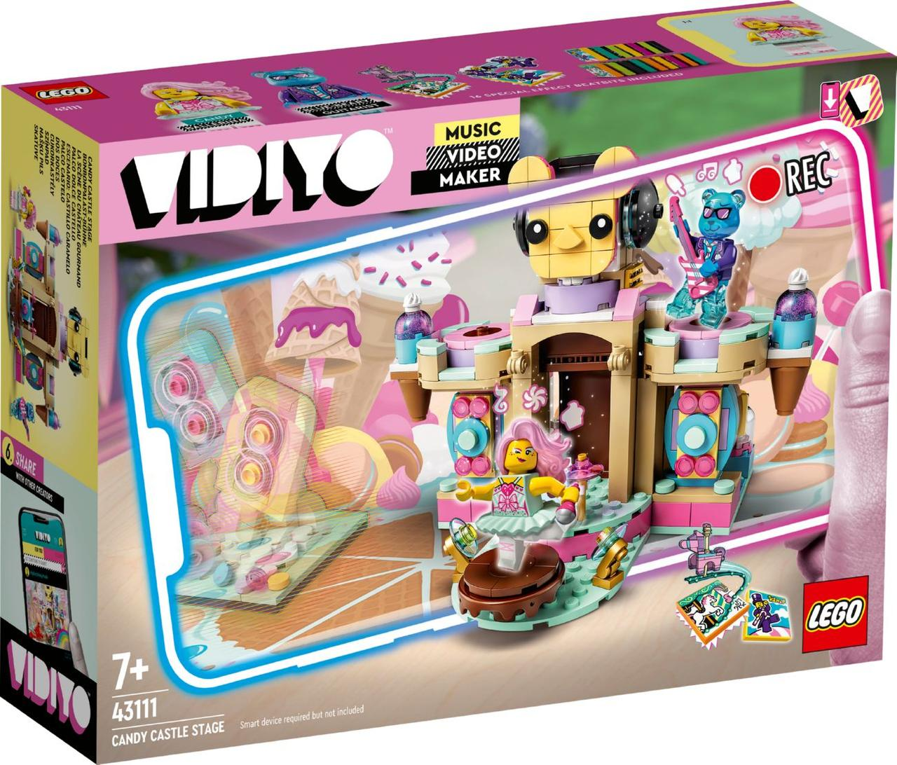 Lego Vidiyo Candy Castle Stage (Сцена карамельного замку) 43111
