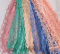 Шарф ажурний  мережевний кольоровий, фото 1