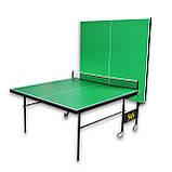 Тенісний стіл складаний S4S Преміум, зелений, фото 2