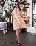 Сукня жіноча лляне з коротким рукавом, фото 4