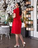 Сукня жіноча лляне з коротким рукавом, фото 6