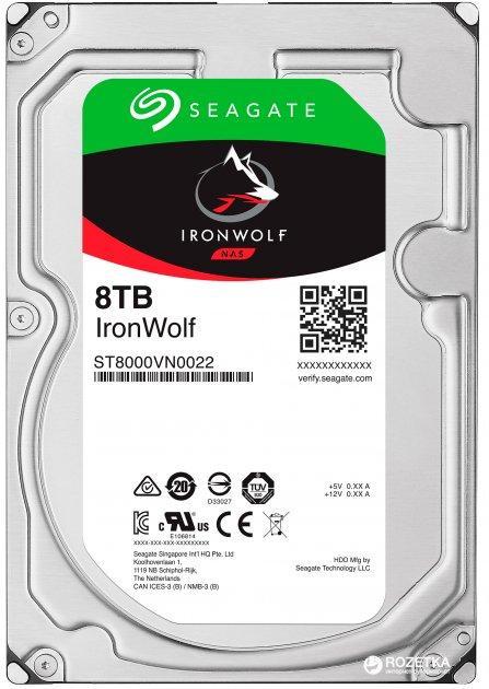 Жесткий диск SEAGATE IRONWOLF 8TB (ST8000VN004)