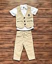 Дитячий костюм трійка: сорочка, жилетка, штани на хлопчика від 1 до 4 років, фото 2
