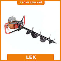 Мотобур (бензобур) 5200Вт LEX GD520 (в комплекте 3 шнека 150-200-250мм)