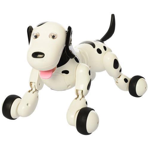 Собака 777-338 радіокер., акум., ходить, танцює, USB, світло,  муз., кор., 39-29-19 см.