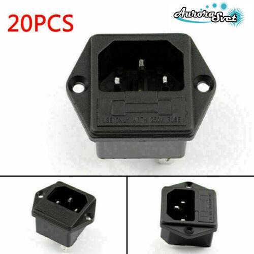 Электрическая розетка переменного тока 250 В. 10 А .для штекерного шнура питания