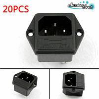 Электрическая розетка переменного тока 250 В. 10 А .для штекерного шнура питания, фото 1