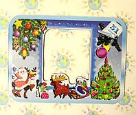 Магнитная рамка на холодильник новогодняя