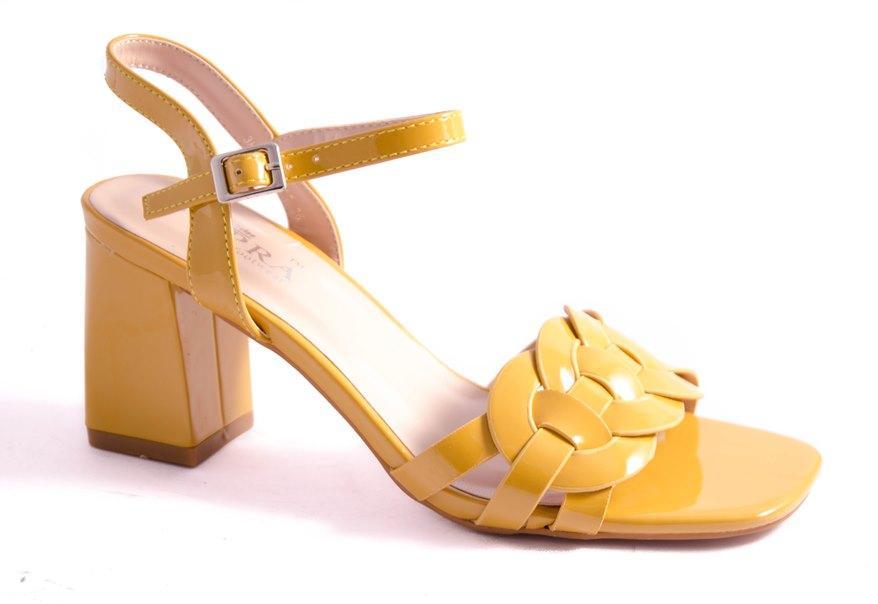 Босоножки женские желтые All Shoes 160605