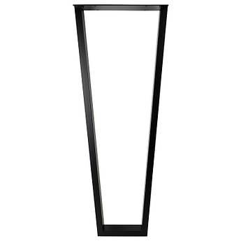 Опора барная в стиле Лофт Loft OP-1311 Черная Woodin 1100x400мм