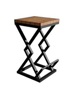 Стул / табурет в стиле Лофт Loft S-056 Черный Woodin 400х400х800мм