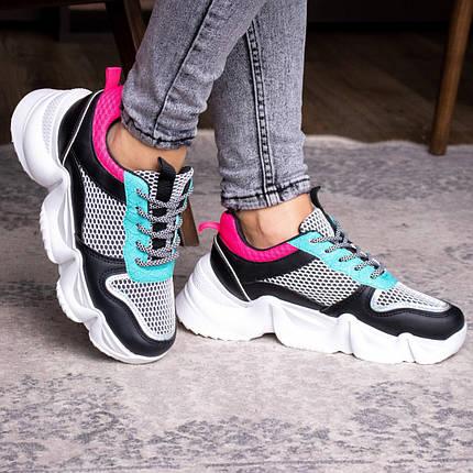 Жіночі кросівки Fashion Carrissa 1757 37 розмір 23 см Чорний, фото 2