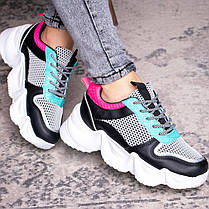 Жіночі кросівки Fashion Carrissa 1757 37 розмір 23 см Чорний, фото 3
