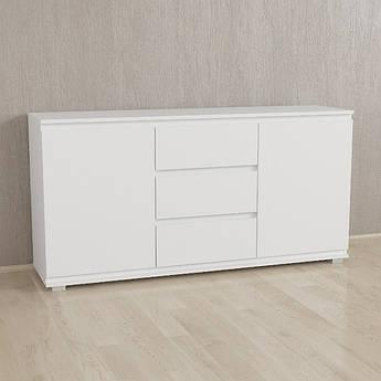 Комод Без Ручек Белый IB-3 Woodin 1502х759х390мм