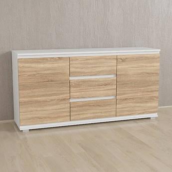 Комод Без Ручек Сонома,Белый, IB-3 Woodin 1502х759х390мм