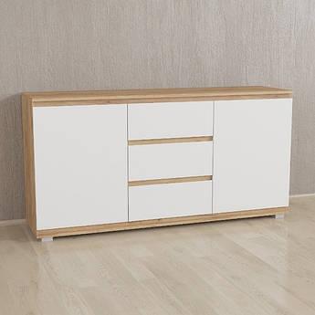 Комод Без Ручек Белый-корпус Дуб Крафт IB-3 Woodin 1502х759х390мм
