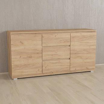 Комод Без Ручек Дуб Крафт, IB-3 Woodin 1502х759х390мм