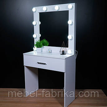 Туалетный столик с подсветкой Белый 1600*900*400 мм Woodin