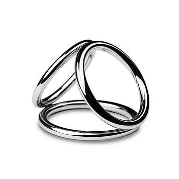 Потрійне ерекційне кільце Sinner Gear Unbendable - Triad Chamber Metal Cock and Ball Ring - Medium код