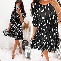 Жіноче легке плаття з софта з нижнім рюшем (Норма), фото 3