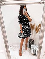 Жіноче легке плаття з софта з нижнім рюшем (Норма), фото 10