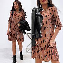 Жіноче легке плаття з софта з нижнім рюшем (Норма), фото 6