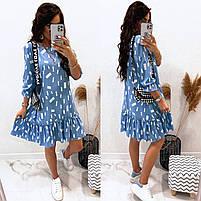 Жіноче легке плаття з софта з нижнім рюшем (Норма), фото 7