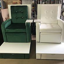 Педикюрное кресло с велюра, мебель для салонов красоты