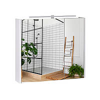 Зеркальный шкаф для ванной комнаты 80х70 Qtap Albatross с подсветкой QT0177ZP800LW