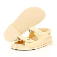 Женские сандалии в стиле Chanel Dad Sandals, бежевый, Китай