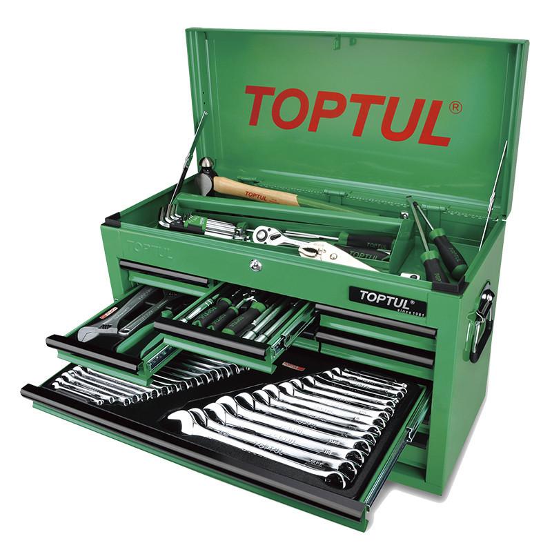 Ящик с инструментом TOPTUL (TBAA0901, 9 секций) 186ед. GCBZ186A