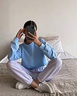 Кроп топ свитшот худи однотонное оверсайз, толстовка реглан женская (чёрный, белый, бежевый, голубой)