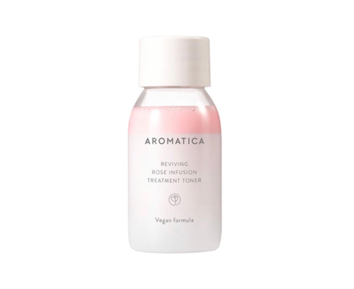 Миниатюра тонера с маслом розы Aromatica Reviving Rose Infusion Treatment Toner, 30 мл