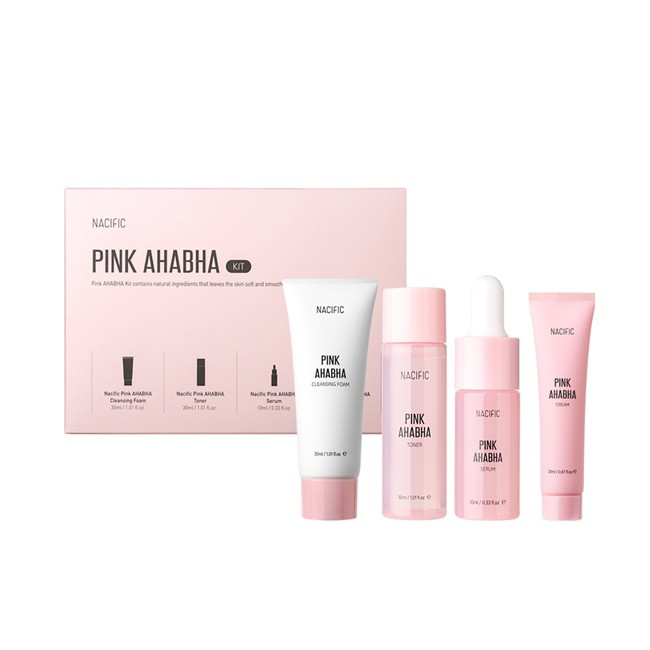 Набір відлущуючих коштів з кислотами NACIFIC [Miniature] Pink AHABHA Kit
