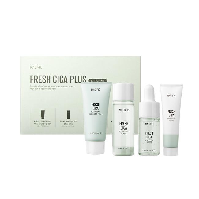 Набір заспокійливих засобів з центеллой NACIFIC [Miniature] Fresh Cica Plus Clear Kit
