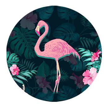 Держатель для телефона круглый (Glass) Фламинго / Черный