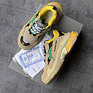 Жіночі Кросівки Balenciaga Triple S Beige/Green/Yellow, фото 2