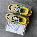 Жіночі Кросівки Balenciaga Triple S Beige/Green/Yellow, фото 6