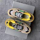 Жіночі Кросівки Balenciaga Triple S Beige/Green/Yellow, фото 9
