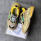 Жіночі Кросівки Balenciaga Triple S Beige/Green/Yellow, фото 3