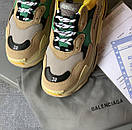 Жіночі Кросівки Balenciaga Triple S Beige/Green/Yellow, фото 8