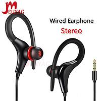 Вакуумные стерео наушники гарнитура проводные с креплением на ушах, микрофоном для смартфона телефона J77