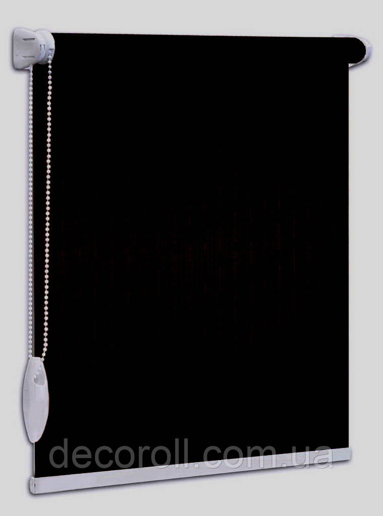 """Рулонні штори """"Len"""" - 2136 чорні, на замовлення по Вашим розмірам, ціна від 0.5 кв. м"""