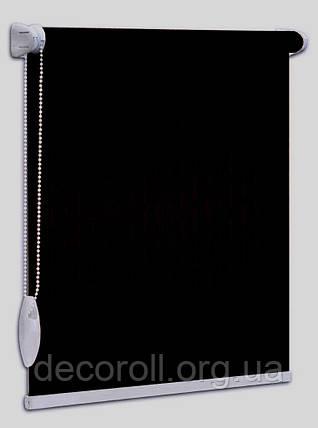 """Рулонні штори """"Len"""" - 2136 чорні, на замовлення по Вашим розмірам, ціна від 0.5 кв. м, фото 2"""