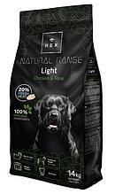 Корм для дорослих собак Rex (Рекс) Natural Range Light з куркою, 3 кг