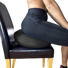 Подушка балансировочная (фитдиск, диск стабильности) для йоги, спорта и фитнеса OSPORT (MS 3164) Черный