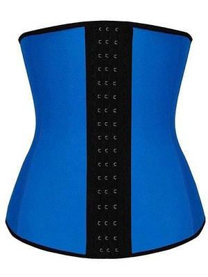Утягивающий женский корсет для похудения Sculpting Clothes Slimming Body Синий Хxl